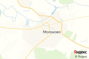 Карта пос. Молоково Тверская область