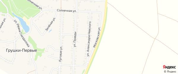 Улица А.Невского на карте поселка Прохоровка с номерами домов