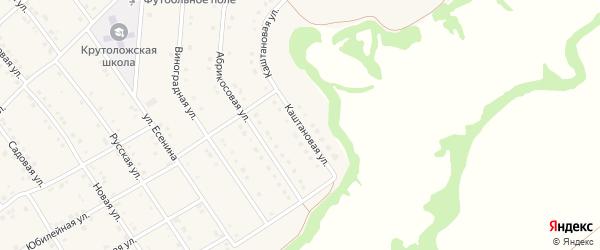 Каштановая улица на карте села Крутого Лога Белгородской области с номерами домов