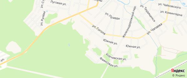 Карта садового некоммерческого товарищества Тяговой Подстанции города Конаково в Тверской области с улицами и номерами домов