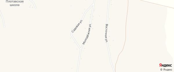 Молодежная улица на карте села Плоты Белгородской области с номерами домов