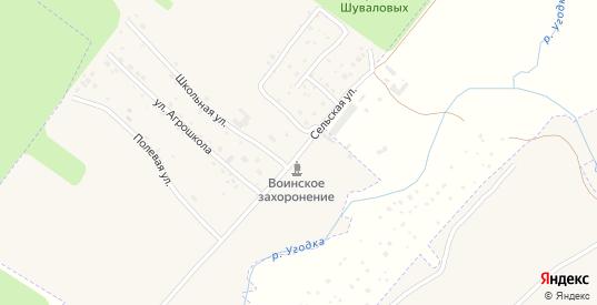 Сельская улица в Жукове с номерами домов на карте. Спутник и схема онлайн
