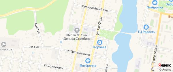 Ново-Почтовая улица на карте Конаково с номерами домов
