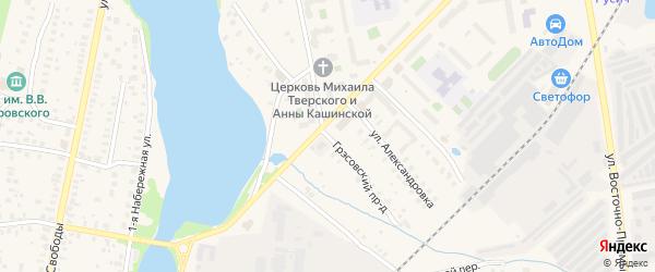 Грэсовский проезд на карте Конаково с номерами домов