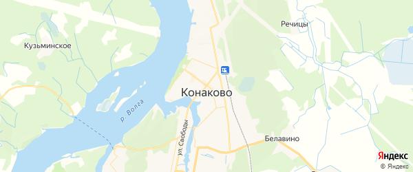 Карта Конаково с районами, улицами и номерами домов