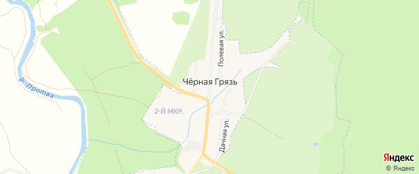 Карта деревни Черной Грязи в Калужской области с улицами и номерами домов