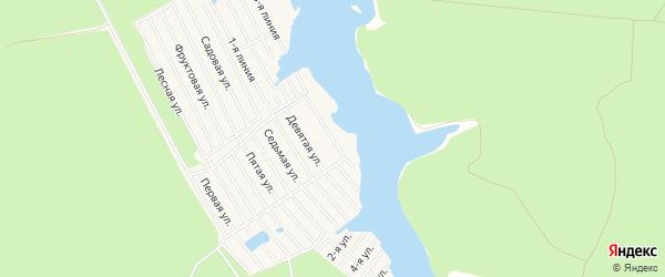 Карта садового некоммерческого товарищества ГРЭСА-6 города Конаково в Тверской области с улицами и номерами домов