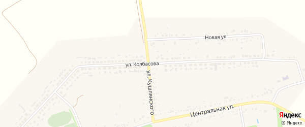 Улица Колбасова на карте села Мелихово с номерами домов