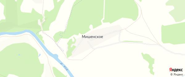 Карта деревни Мишенского в Тульской области с улицами и номерами домов