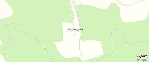 Карта деревни Лаговщина(некрасовской с/а) в Калужской области с улицами и номерами домов