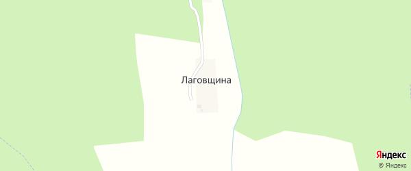 Центральный переулок на карте деревни Лаговщина(некрасовской с/а) Калужской области с номерами домов