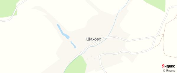 Шаховская улица на карте деревни Шахово Калужской области с номерами домов