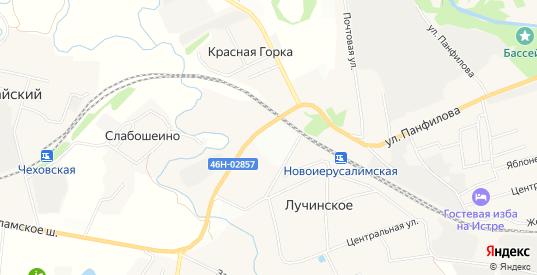 Территория СНТ Железнодорожник на карте Истры с номерами домов