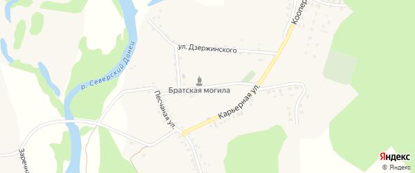 Колхозная улица на карте села Новой Таволжанки с номерами домов
