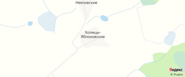 Карта деревни Холмцы Яблоновские в Тверской области с улицами и номерами домов