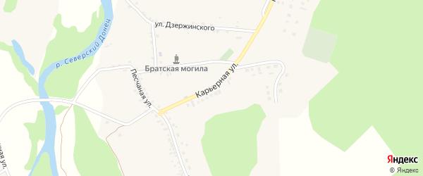 Карьерная улица на карте села Новой Таволжанки с номерами домов