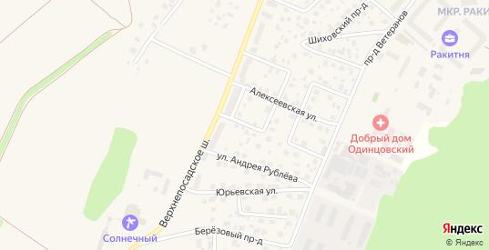 Цветочный переулок в Звенигороде с номерами домов на карте. Спутник и схема онлайн