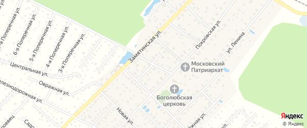 Кооперативная улица на карте деревни Покровки Московской области с номерами домов