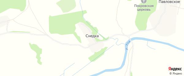 Карта деревни Снедки в Тульской области с улицами и номерами домов