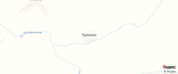 Карта деревни Чулкино в Тверской области с улицами и номерами домов