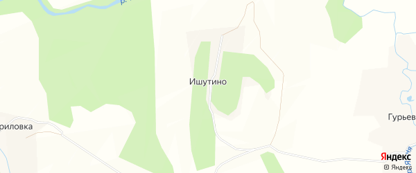 Карта деревни Ишутино в Калужской области с улицами и номерами домов