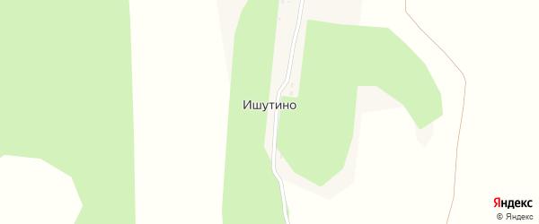 Московская улица на карте деревни Ишутино Калужской области с номерами домов