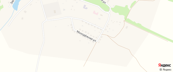Молодежная улица на карте села Рылево Тульской области с номерами домов