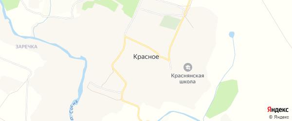 Карта Красного села в Орловской области с улицами и номерами домов