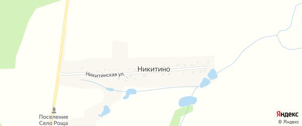 Никитинская улица на карте деревни Никитино Калужской области с номерами домов