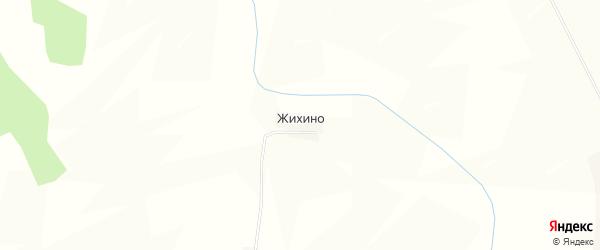 Карта деревни Жихино в Тверской области с улицами и номерами домов
