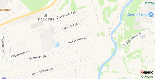 Шоссейная улица в Истре с номерами домов на карте. Спутник и схема онлайн