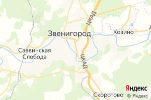 Карта г. Звенигород Московская область