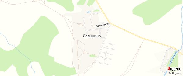 Карта деревни Латынино в Калужской области с улицами и номерами домов