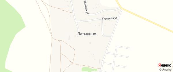 Дорожная улица на карте деревни Латынино Калужской области с номерами домов