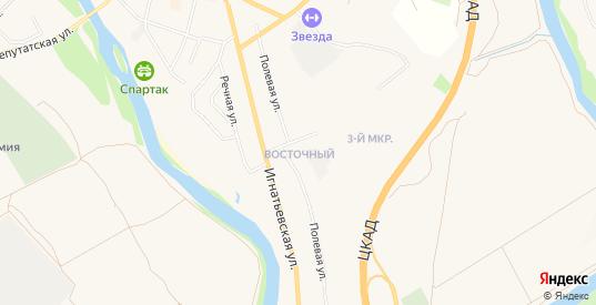 Карта микрорайона Восточный в Звенигороде с улицами, домами и почтовыми отделениями со спутника онлайн
