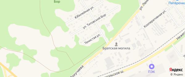 Тенистая улица на карте Шебекино с номерами домов