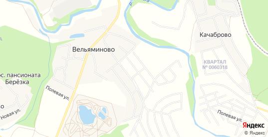 Дачное некоммерческое партнерство Карповы Вары на карте Истры с номерами домов