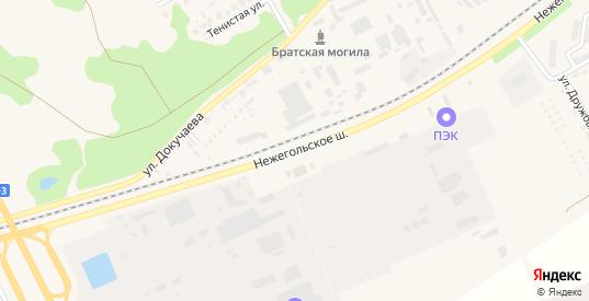 Улица Нежегольское шоссе в Шебекино с номерами домов на карте. Спутник и схема онлайн
