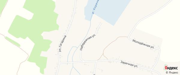 Набережная улица на карте села Чураево с номерами домов