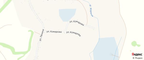Улица Павла Исаева на карте села Чураево с номерами домов