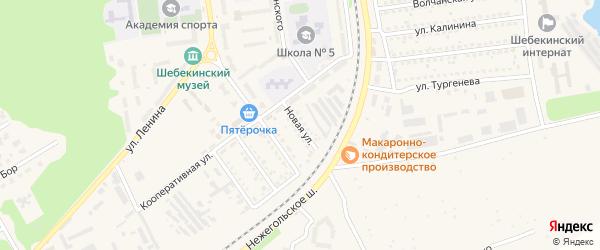 Новая улица на карте Шебекино с номерами домов