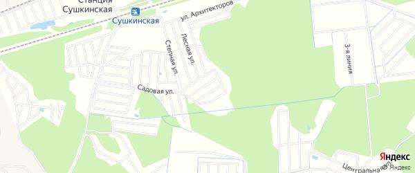 Территория СНТ Лето на карте Одинцово Московской области с номерами домов