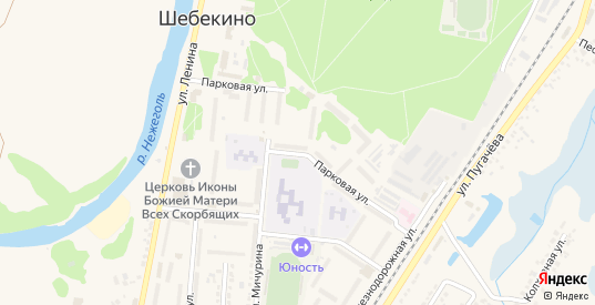 Парковая улица в Шебекино с номерами домов на карте. Спутник и схема онлайн