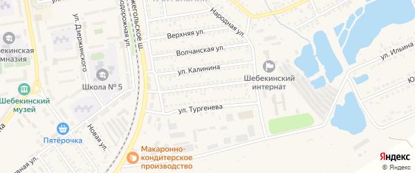 Улица Н.Островского на карте Шебекино с номерами домов
