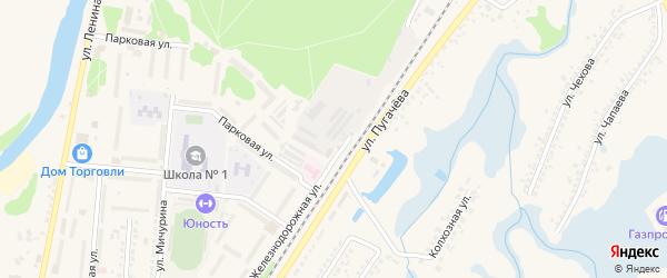 Нижняя улица на карте Шебекино с номерами домов