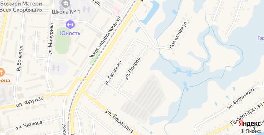 Улица Попова в Шебекино с номерами домов на карте. Спутник и схема онлайн