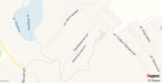 Прибрежная улица в Шебекино с номерами домов на карте. Спутник и схема онлайн