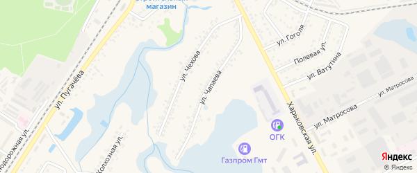 Улица Чапаева на карте Шебекино с номерами домов