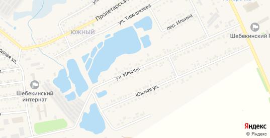Улица Ильина в Шебекино с номерами домов на карте. Спутник и схема онлайн