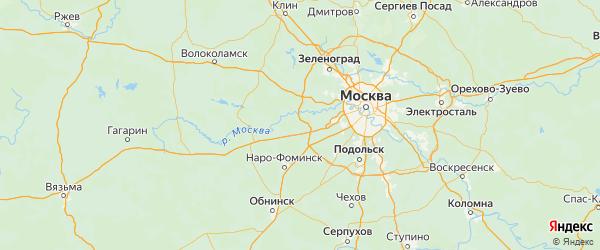 Карта Одинцовского района Московской области с городами и населенными пунктами